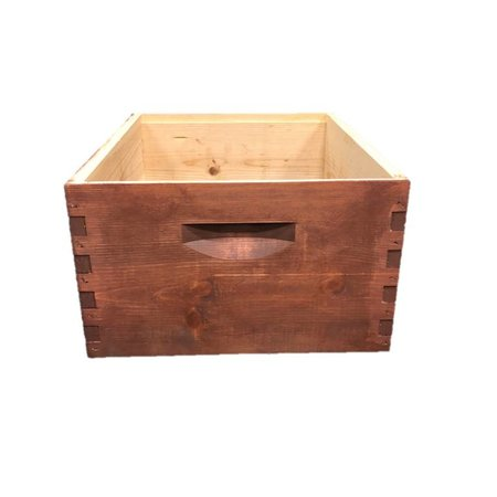 10 Frame Deep Assembled Stained Pine Hive Box w/o Frames