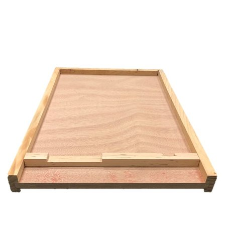 8 Frame Cypress Unfinished Bottom Board w/Entrance Reducer