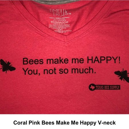 Bees Make Me Happy V-neck