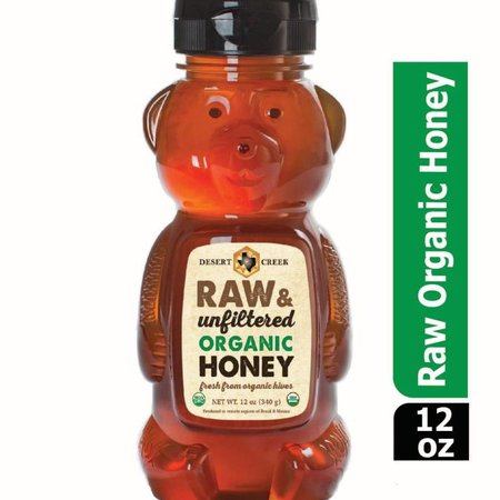 12 oz Bear Organic Raw Honey