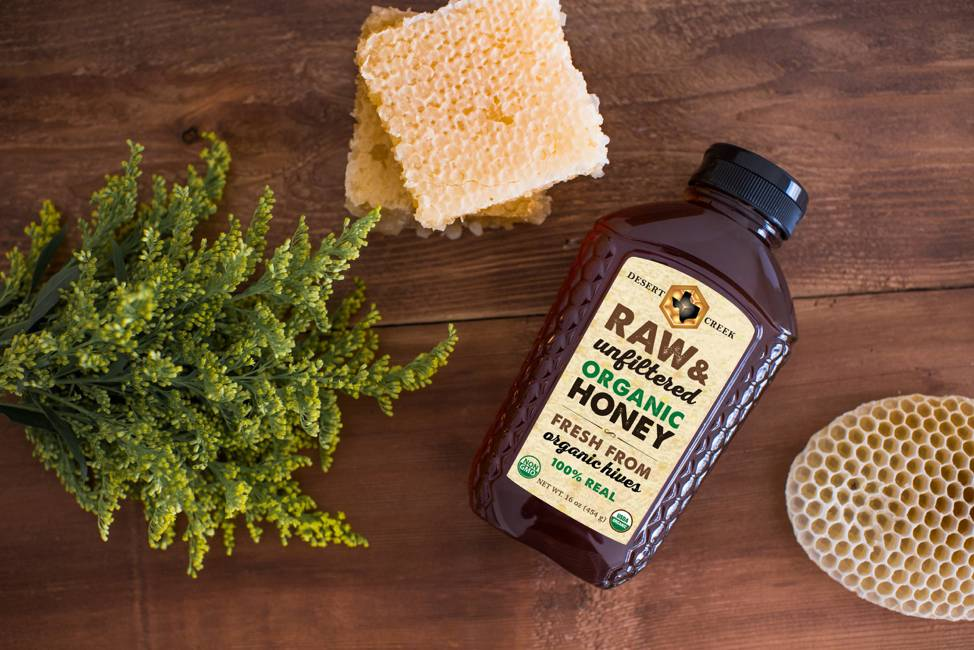 1 lb Organic Raw Honey