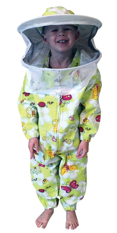 Green Patterned Suit Child 4-8 with Round Veil
