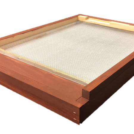 10 Frame Stained Varroa Screen Bottom Board w/ Drawer and ER