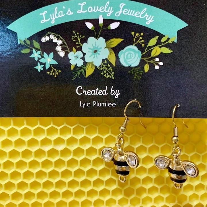 Lyla's Lovely Jewelry Bee Earrings