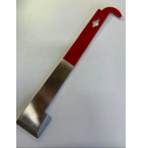 "10"" Red Stainless Steel Hive Tool with hook"