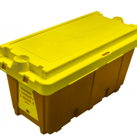 Plastic 5 Frame Nuc Box with Brightly Colored Lid
