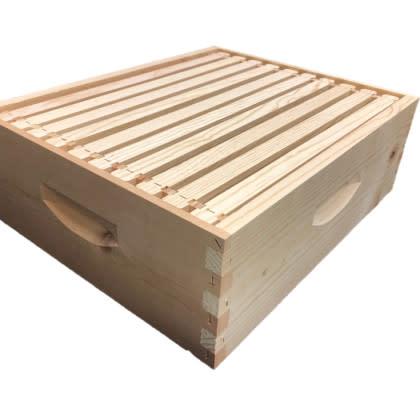 10 Frame Medium Assembled Unfinished Hive Combo w/Frames & Black Foundation