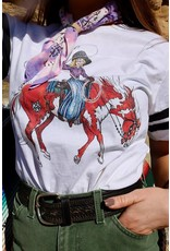 The Coyote Cowgirl Cowgirl Baseball Short Sleeve Tee