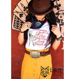 The Coyote Cowgirl Fear the Fire White Ringer Tee