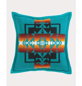 Pendleton Woolen Mills Chief Joseph Turquoise Pillow