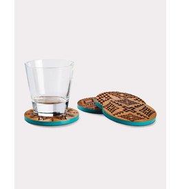 Pendleton Woolen Mills Acacia Wood Coasters, Set of 4