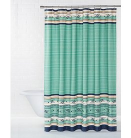 Pendleton Woolen Mills Embroidered Aqua Chimayo Shower Curtain