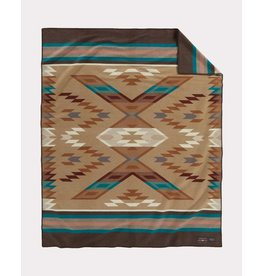 Pendleton Woolen Mills Brown Roselyn Begay Weavers Blanket