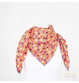 Whipin Wild Rags Orange Polka Dot Wild Rag