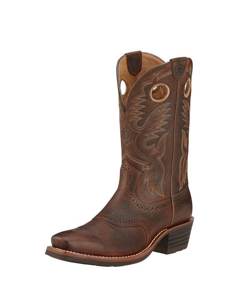 Ariat Ariat Men's Brown Oiled Rowdy Heritage Roughstock Boots