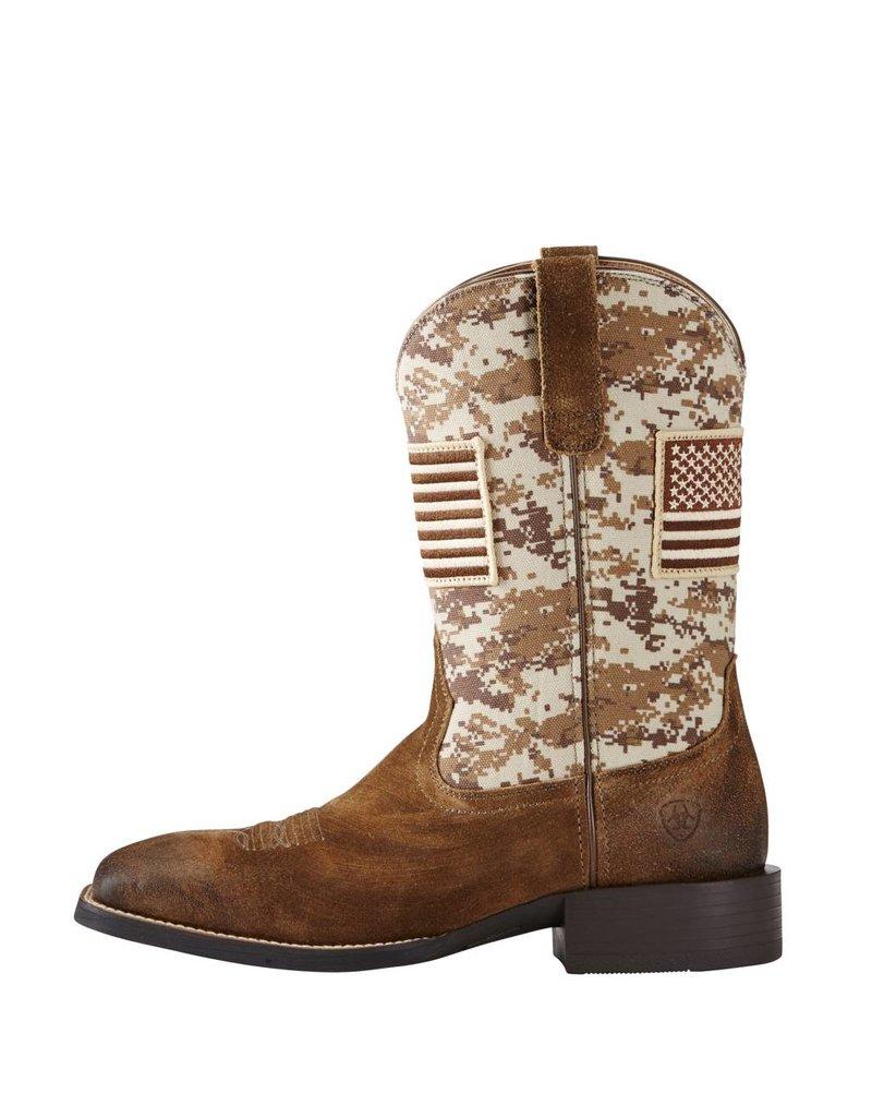 Ariat Ariat Men's Antique Mocha Suede Sport Patriot Boots
