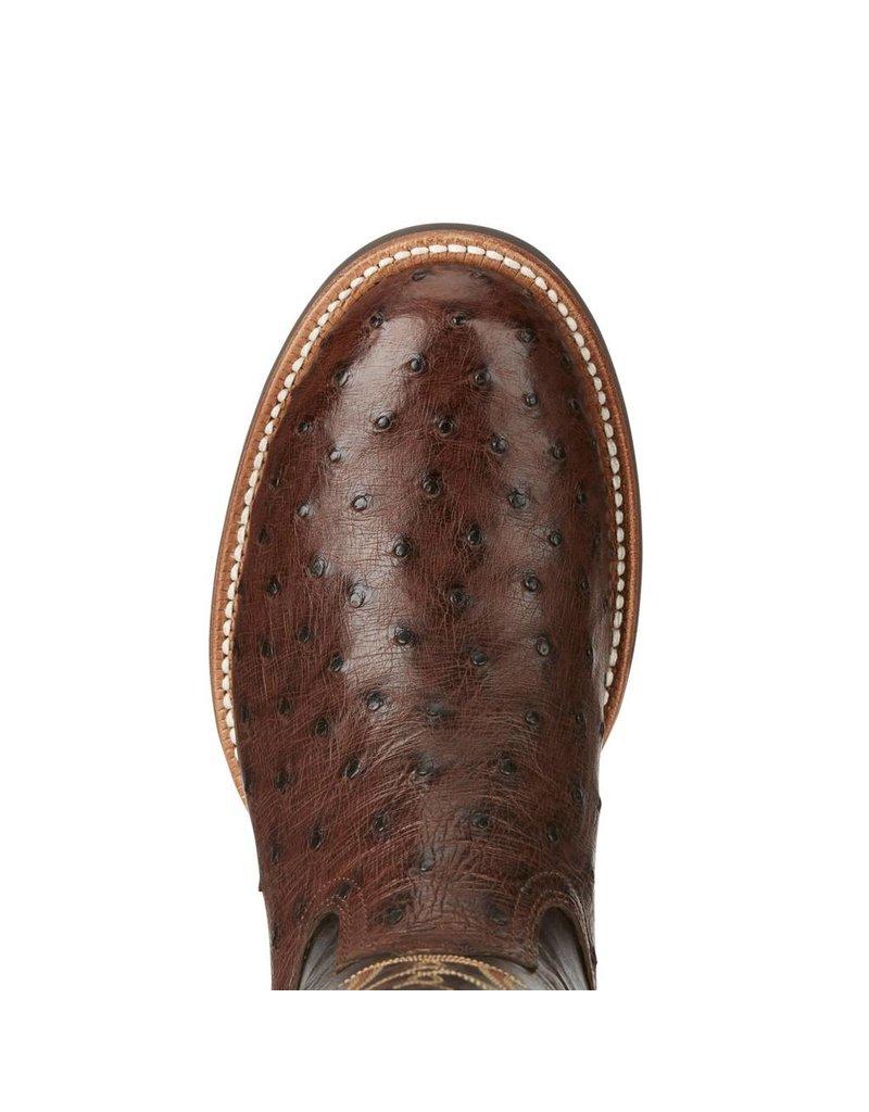 Ariat Ariat Men's Antique Tabac Quantum Pro Full Quill Ostrich Boots