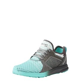 Ariat Ariat Women's Turquoise Gray Ombre Mesh Fuse Athletic Shoes