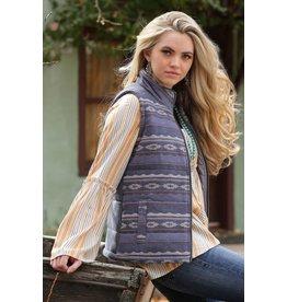 Cruel Girl Cruel Girl Navy Patterned Tweed Vest