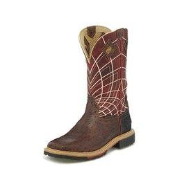 Justin Brands Justin Men's Hybred® Derrickman Waterproof Ostrich Print Boots
