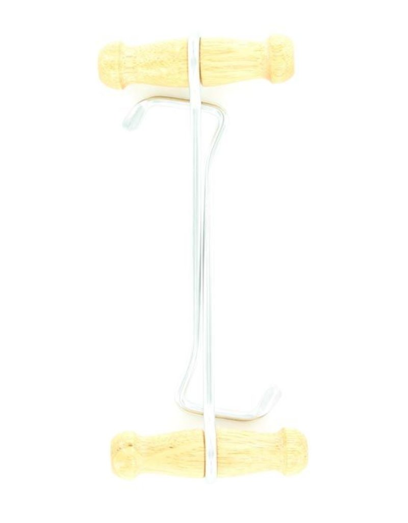 "M&F Western Products 9"" Natural Wood Boot Hooks"