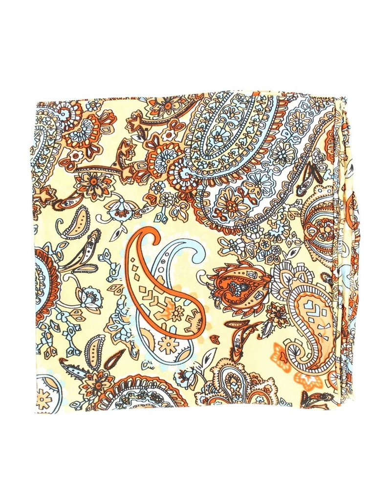 M&F Western Products Tan Paisley 100% Silk Wild Rag