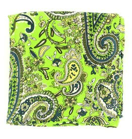 M&F Western Products Lime Paisley 100% Silk Wild Rag
