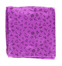 M&F Western Products Purple Brand Iron 100% Silk Wild Rag
