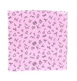 M&F Western Products Hot Pink Brand Iron 100% Silk Wild Rag