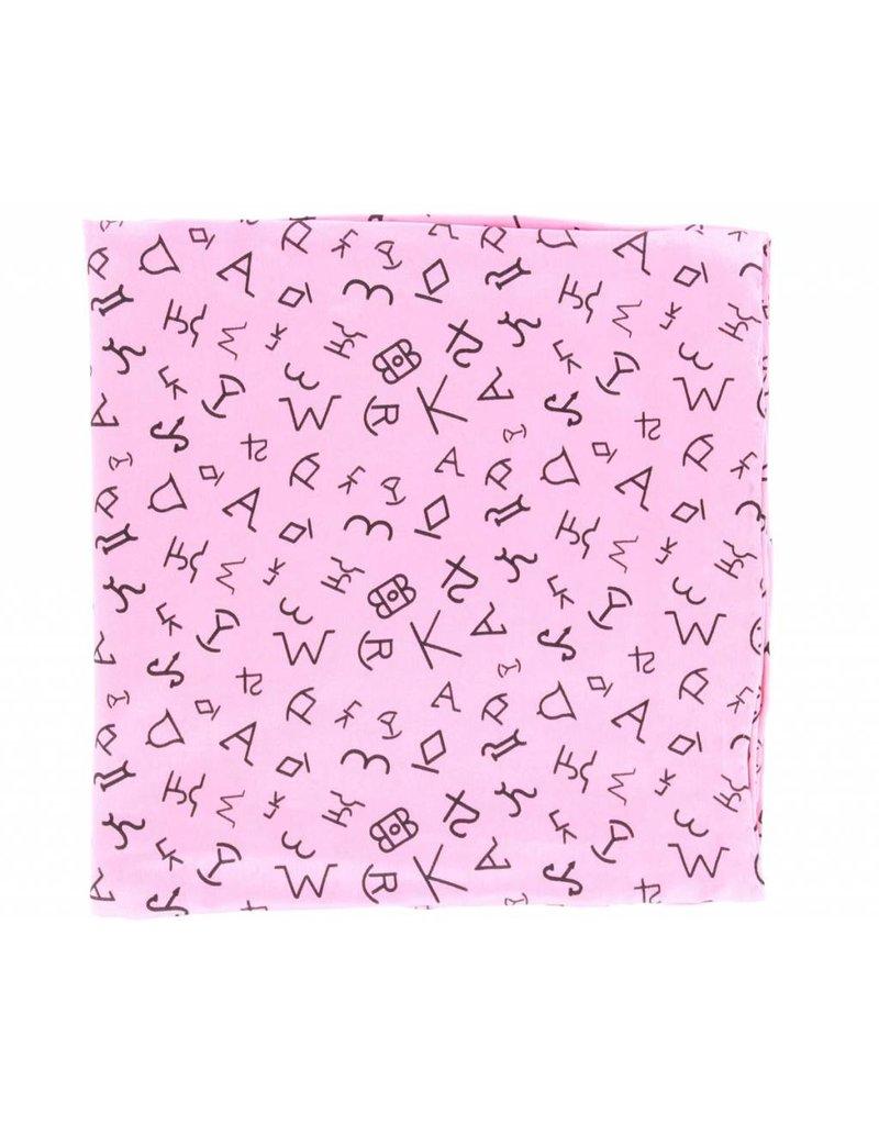M&F Western Products Hot Pink Brand Iron 100% Silk Wild Rag