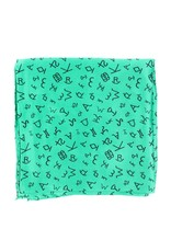 M&F Western Products Kelly Green Brand Iron 100% Silk Wild Rag