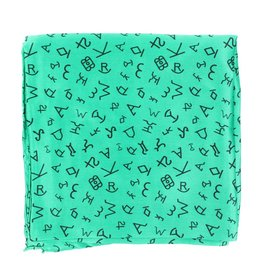 M&F Western Products Kelly Green Brand Iron 100% Silk Wild Rag
