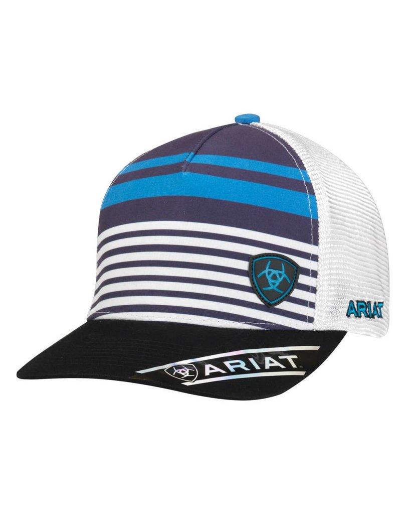 Ariat Ariat Blue & White Performance Mesh Striped Cap