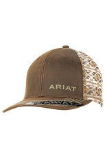 Ariat Ariat Brown Oilskin Aztec Mesh Snap Back Cap