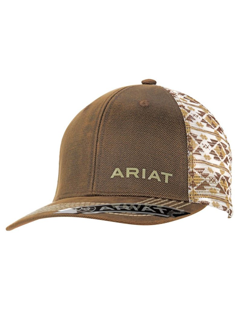 Ariat Brown Oilskin Aztec Mesh Snap Back Cap - Ray s Western Wear ... 55b9cd06e40