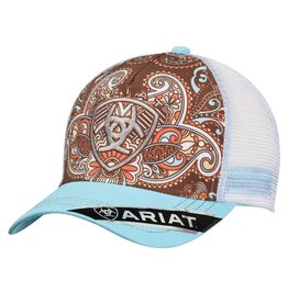 Ariat Ariat Brown Paisley Mesh Back Cap