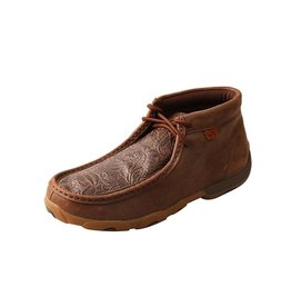 Twisted X Twisted X Women's Brown Tooled Driving Moccasins