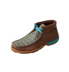 Twisted X Twisted X Women's Brown & Turquoise Driving Moccasins