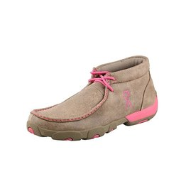 Twisted X Twisted X Women's Dusty Tan & Pink Driving Moccasins