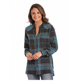 Panhandle Slim Panhandle Slim Plaid Long Sleeve Tunic