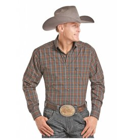 Panhandle Competition Panhandle Stretch Plaid Long Sleeve Button Down Competition Fit