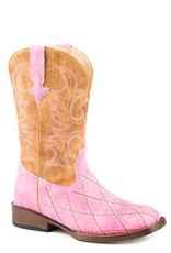 Roper Roper Youth Pink Diamond Pattern Stitching Boots