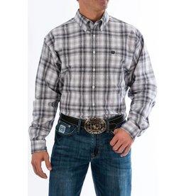 Cinch Cinch Men's Gray Plaid Long Sleeve Button Down Shirt