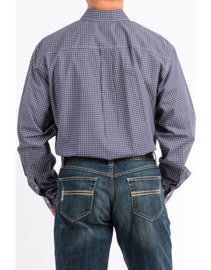 Cinch Cinch Men's Purple Print Long Sleeve Button Down Shirt