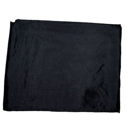 Wyoming Traders Solid Black 100% Silk Scarf