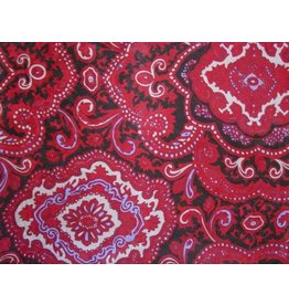 Wyoming Traders Paisley Red-Black 100% Silk Scarf