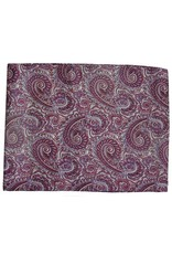 Wyoming Traders Paisley Raspberry-White 100% Silk Scarf