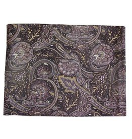 Wyoming Traders Paisley Navy-Brown 100% Silk Scarf