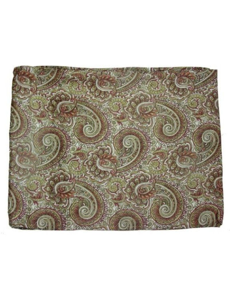 Wyoming Traders Paisley Brass-Bronze 100% Silk Scarf