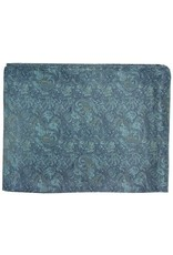 Wyoming Traders Calico Blue 100% Silk Scarf